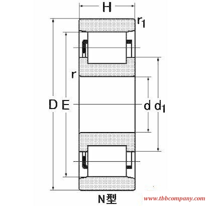 N0040M Single row cylindrical roller bearing
