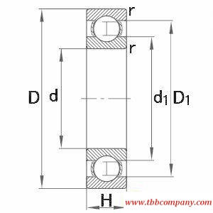 61892-M Deep groove ball bearing