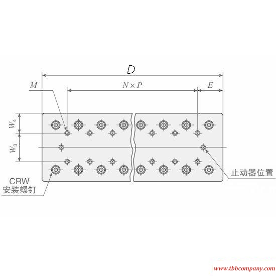 CRWU 100-110 Crossed Roller Way Unit Linear guide