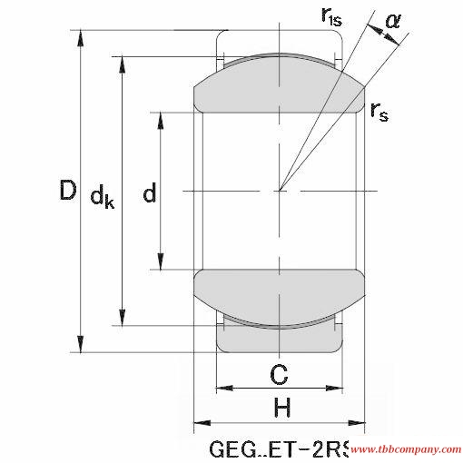 GEG200XT-2RS Plain bearing