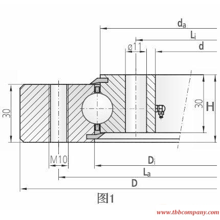 10-16 0200/0-08013 Slewing bearing (Without gear teeth)