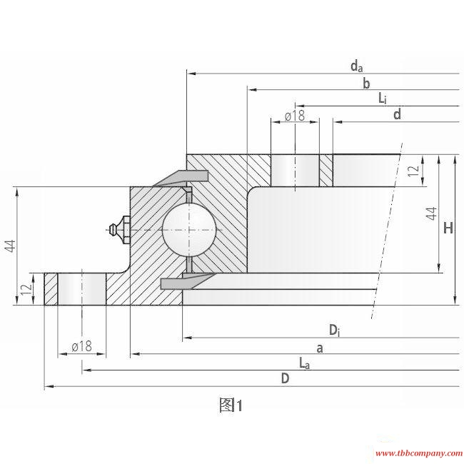 90-20 0541/0-07023 Slewing bearing (Without gear teeth)