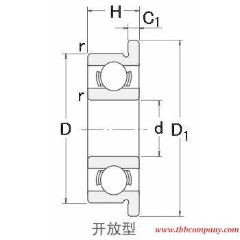 FR2-5 Single row deep groove ball bearing