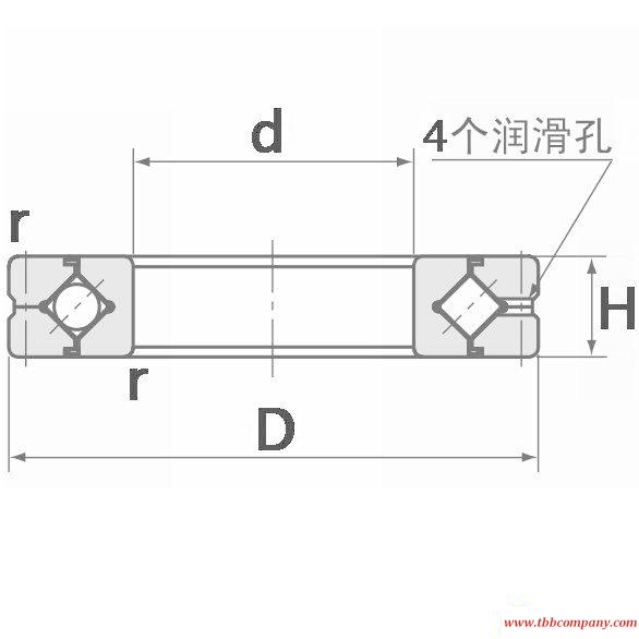 CRBA08013 Crossed roller bearing