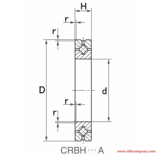 CRBH4010A Crossed roller bearing