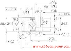 XSU080168 Crossed roller bearing