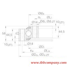 VSU201094 Four-point angular  contact ball bearing