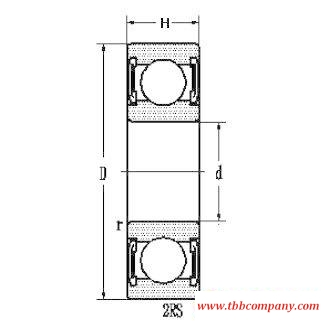 6203E-2RS Deep groove ball bearing with seals or shields