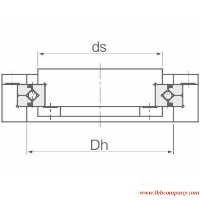 RE18025 Crossed roller bearing