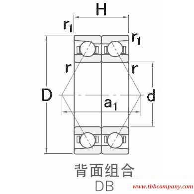 HAR022CDB Combined angular contact ball bearing