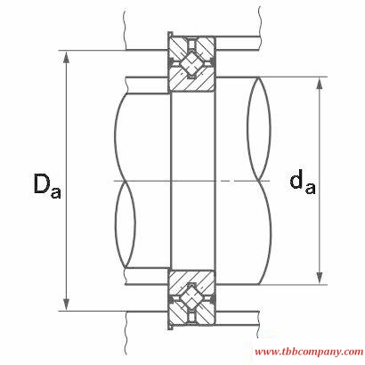 CRBH14025A Crossed roller bearing