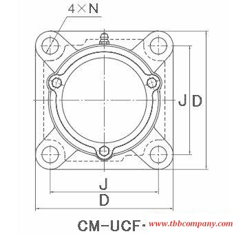 CM-UCF211-202D1 Inch size bearing units