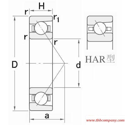HAR030C Single row angular contact ball bearing