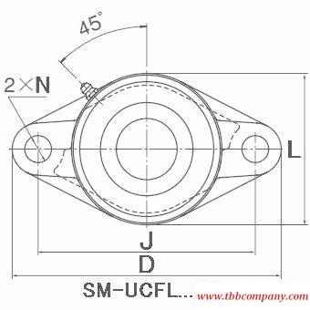 SM-UCFL206-103D1 Inch size pillow block bearing