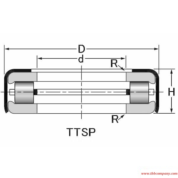 T104 Tapered roller thrust bearing