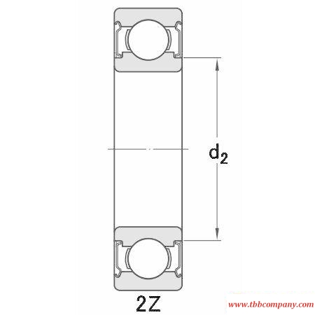 W61704 Stainless steel deep groove ball bearing