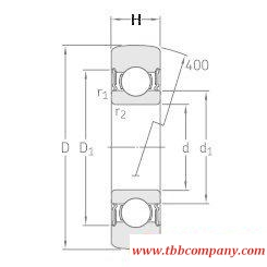 361204R Track Roller Single Row Ball Bearing