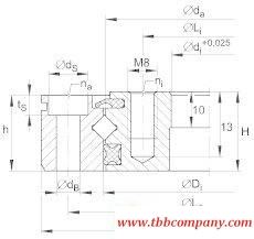 XU160405 Crossed roller bearing