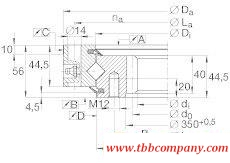 XSI140414-N Crossed roller bearing