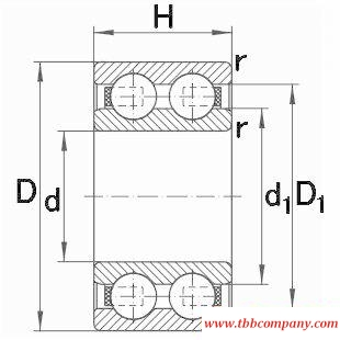 4304-B-TVH Double row deep groove ball bearing