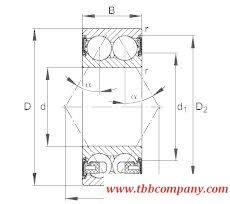 3204-BD-2HRS-TVH Angular contact ball bearing