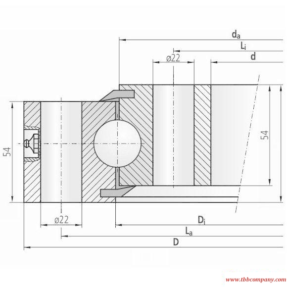 10-25 0755/0-04040 Slewing bearing (Without gear teeth)