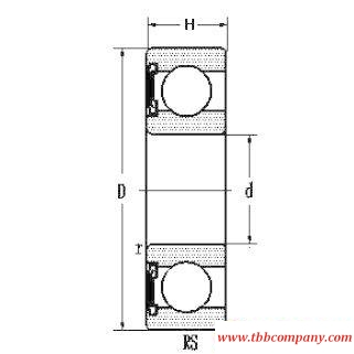 6305E-RS Deep groove ball bearing with seals or shields