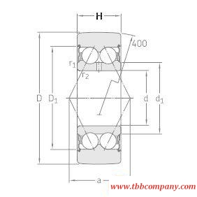 305806C-2Z Track roller double row ball bearing