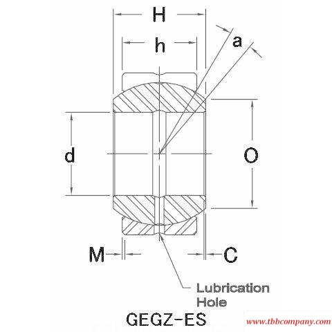 GEGZ056ES-2RS Plain bearing