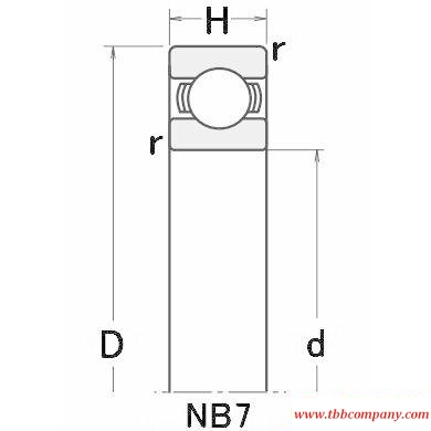 NB706 Thin wall bearing