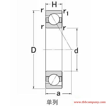 SF5206 Angular contact ball bearing