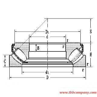 9069360 Spherical roller thrust bearing