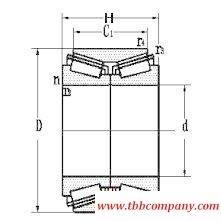 370660/HC Inch size double row tapered roller bearing