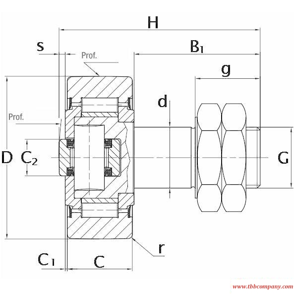 CFA062.2RS Combined Track Roller Bearing