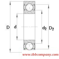 6206-C-2HRS Deep groove ball bearing
