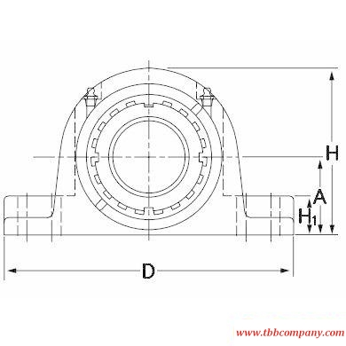 TAPN15K207S Inch size mounted spherical roller bearing