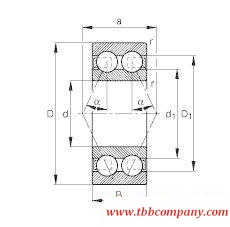 3207-BD-TVH Angular contact ball bearing