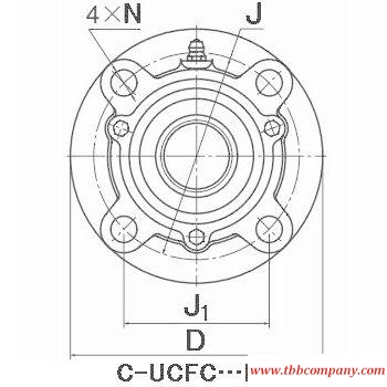CM-UCFC212-207D1 Inch size bearing units