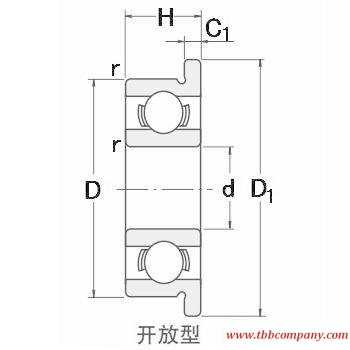 MF84 Single row deep groove ball bearing