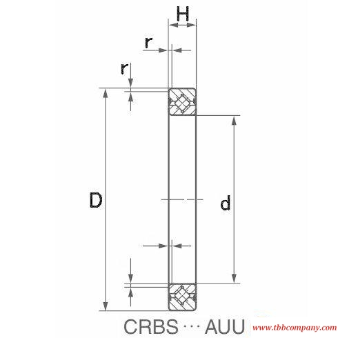CRBS808AUU Crossed roller bearing
