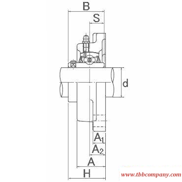 UCF218-308D1 Inch size bearing units