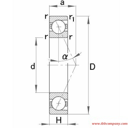 B7208-E-T-P4S Spindle Bearing