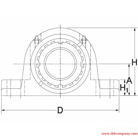 TAPA17K300S Inch size mounted spherical roller bearing