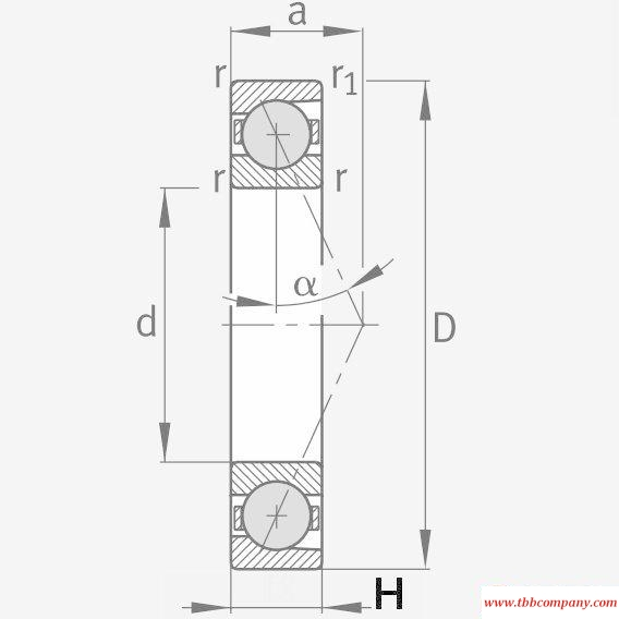 HCB7208-E-T-P4S Spindle Bearing