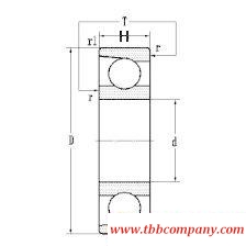 7309AC Single row angular contact ball bearing