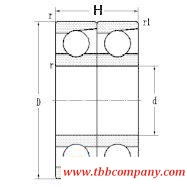7309C/DT Duplex angular contact ball bearing