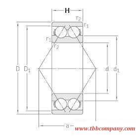 3309DMA Double row angular contact ball bearing