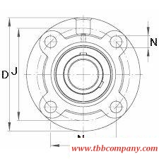 UCFC209 Flange-Mount bearing units