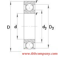6309-C Deep groove ball bearing