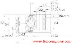 VSU250955 Four-point angular  contact ball bearing
